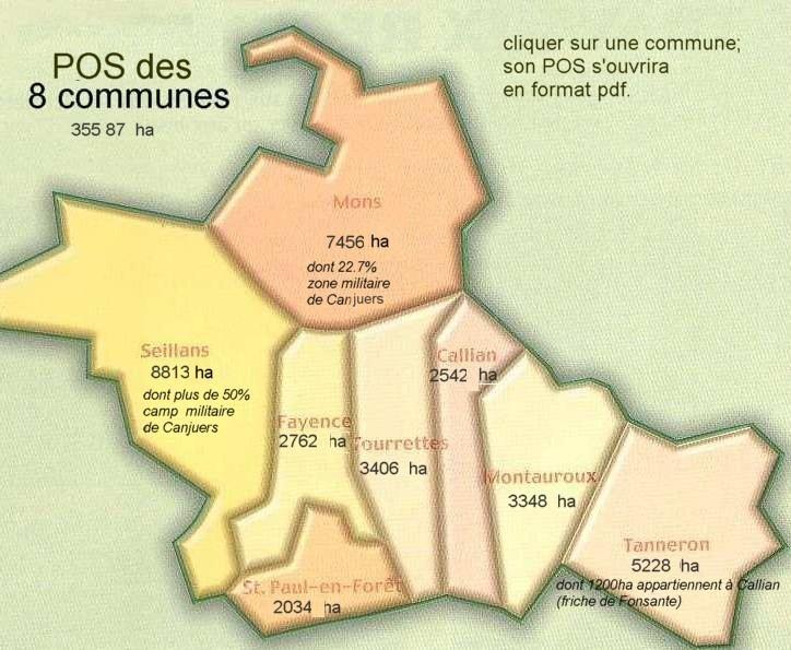 POS des 8 communes du pays de Fayence