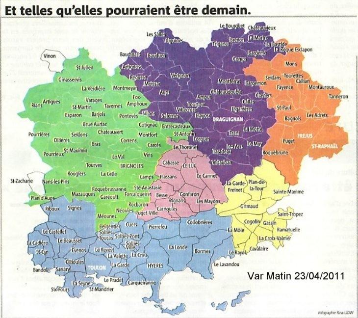 Carte Détaillé Du Var | My blog